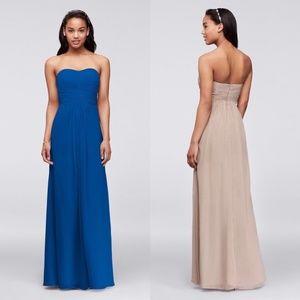 Blue David's Bridal Strapless Dress - Sweetheart